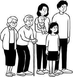 2世帯家族の場合