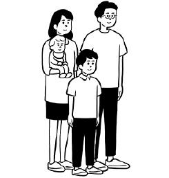 4人家族の場合